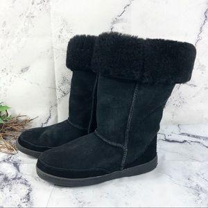 MINNETONKA Tall Suede Shearling boots Sz 8